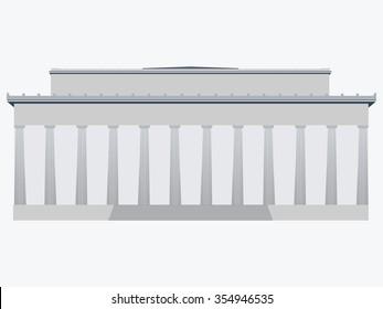 Memorial. Washington. USA. Flat vector illustration.