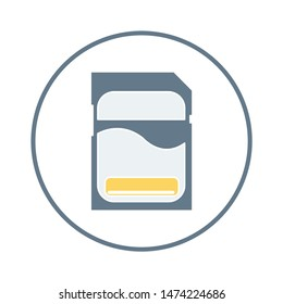 memory card icon. flat illustration of memory card vector icon. memory card sign symbol