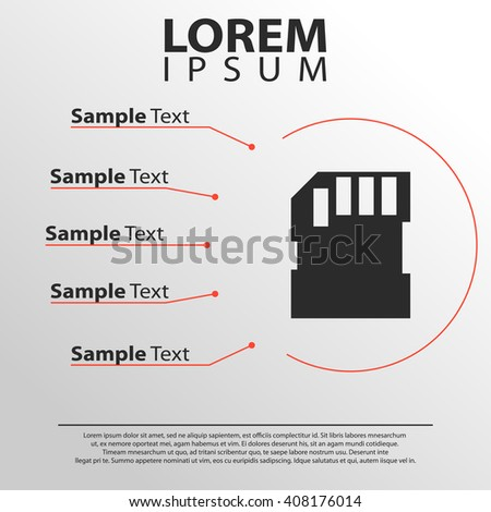 memory card icon infographics template stock vector royalty free