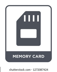 memory card icon vector on white background, memory card trendy filled icons from Electronic stuff fill collection, memory card simple element illustration