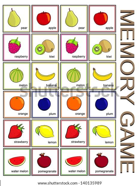 Memory game - fruits (vector)