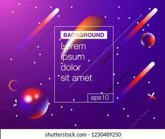 Memphis abstract color background design