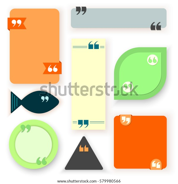 memphis color block quote pull quote stock vector royalty