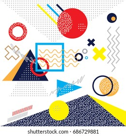 Memphis Pattern, Memphis Style, Memphis Vector, Memphis Background.