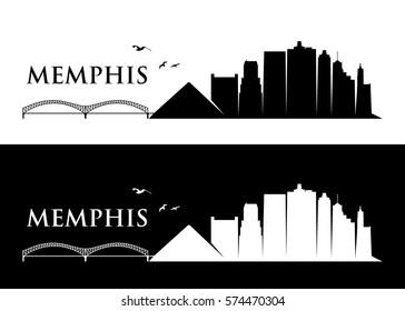 Memphis skyline - Tennessee - vector illustration