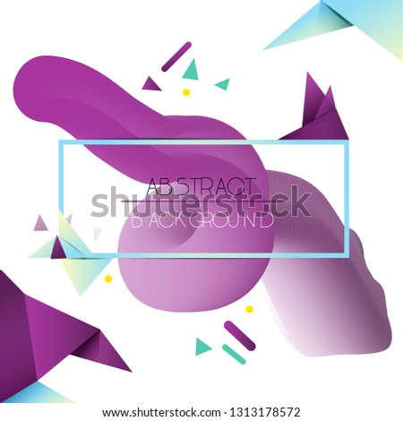 abd78b2c837cc Memphis style. Abstract complex gradient with geometric elements. Fluid  gradient shapes composition.Modern abstract pattern, bright colorful paint  splash ...