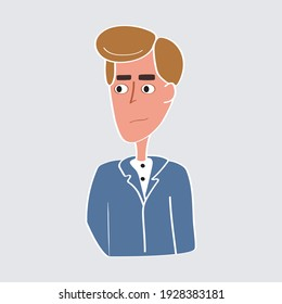 Men avatar vector character style and casual people in trendy. Isolated background