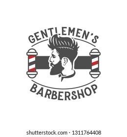Men barber shop vintage logo design inspiration
