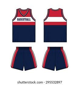 Men Basketball Sport Kit Template