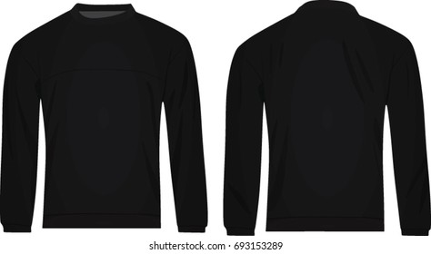Men black sweater. vector illustration