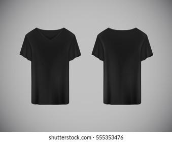 black tshirts front back used design の写真素材 今すぐ編集