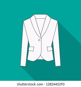 Men blazer or jacket or suit symbol simple flat vector icon in line design. Blazer illustration for web, mobile apps, design. Blazer vector symbol