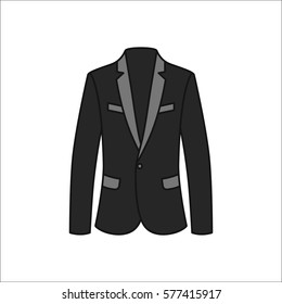 Men blazer or jacket or suit symbol simple flat icon on background