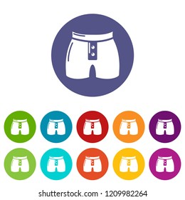 Men brief fashion icon. Simple illustration of men brief fashion vector icon for web