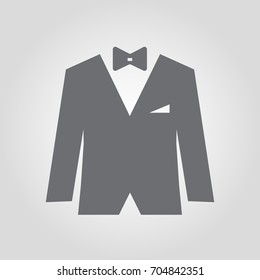Suit Style Black Tie Icon Stock Vector (Royalty Free