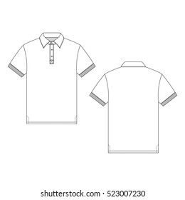 Polo Shirt Template Images, Stock Photos & Vectors | Shutterstock