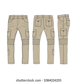 Men Cargo Pants Template