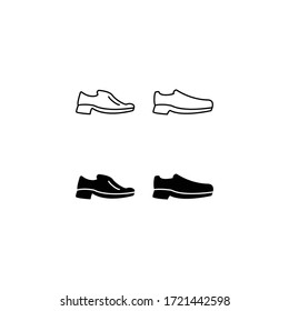 Men Classic Shoes Wedding icon. Shoes icon isolated sign symbol vector illustration - high quality black style vector icons. Suitable for logo, web, UI, mobile app. Vector graphics