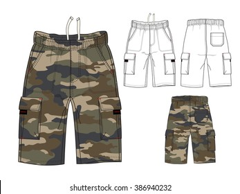 Men Combat Pant with Camouflage Print