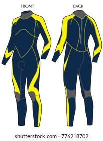 Men Diving wetsuit ,vector format
