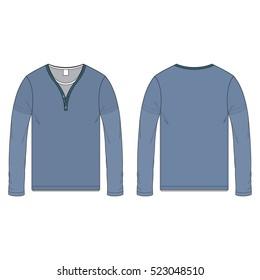 Men Double Tee Shirt Template