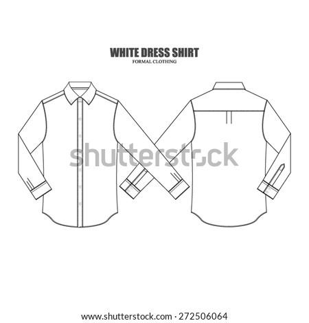men dress shirt vector fashion template stock vector royalty free