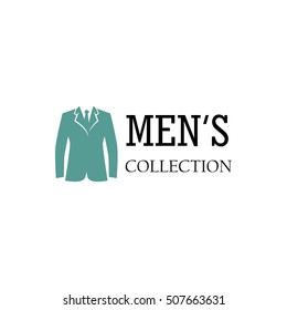 men fashion logo design template stock vector royalty free