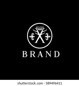Men fashion vector logo design template