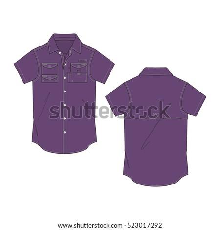 b124d0b9 Men Fishing Shirt Template Stock Vector (Royalty Free) 523017292 ...