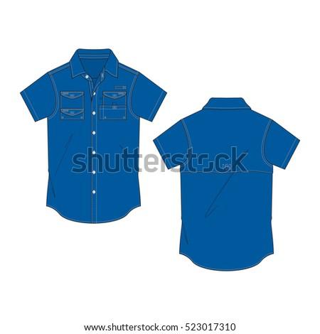 948e83d9 Men Fishing Shirt Template Stock Vector (Royalty Free) 523017310 ...