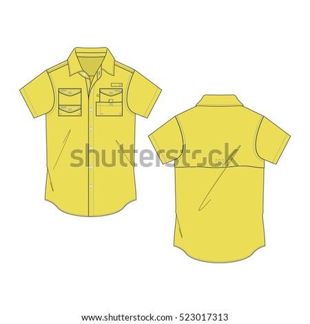 e99db910 Men Fishing Shirt Template Stock Vector (Royalty Free) 523017313 ...