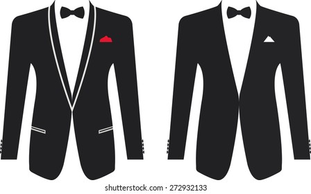 Men formal suit on a white background. Vector illustration
