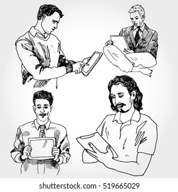 Men with Gadgets