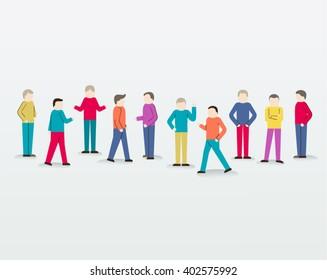 Men Gather Together People Icon Vector Design Illustration