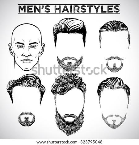 Men Hairstyles Stock Vector Royalty Free 323795048 Shutterstock