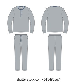 Men Loungewear Pyjama Set Template