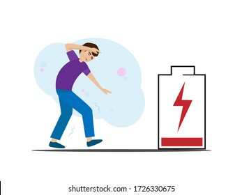 Men with low energy status, physical or emotional fatigue, mental fatigue, low battery will have to charge.