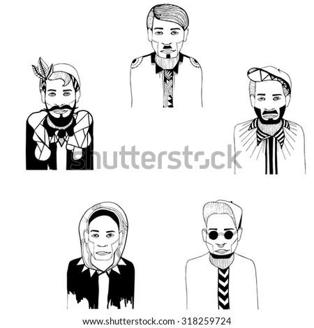 men man fashion drawing drawings art stock vector royalty free