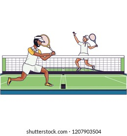 men playing women's roles at court - 260×280