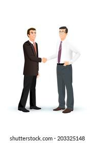 Men shake hands