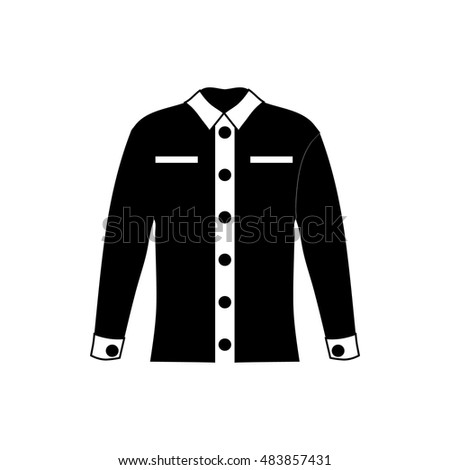 4e80720f89dc Men shirt icon in simple style isolated on white background. Clothing  symbol vector illustration - Vector