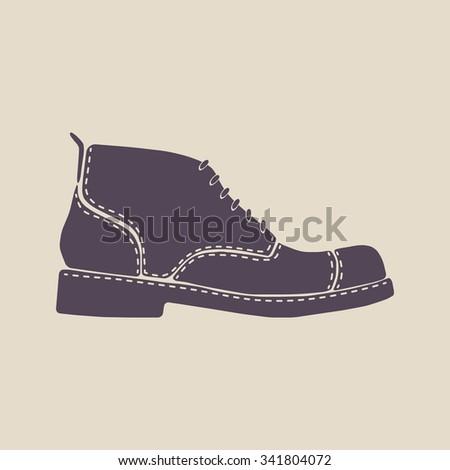 62c100e7ac Men Shoe Icon Sign Men Footwear Stock Vector (Royalty Free ...