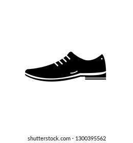 Men shoe vector icon simple design