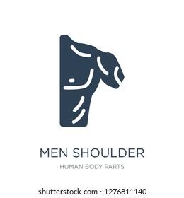 men shoulder icon vector on white background, men shoulder trendy filled icons from Human body parts collection, men shoulder vector illustration
