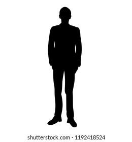 men silhouette black