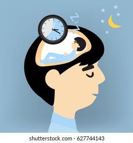Men are sleeping in the brain.