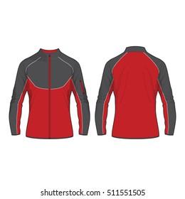 Men Sport Jacket Vector Template