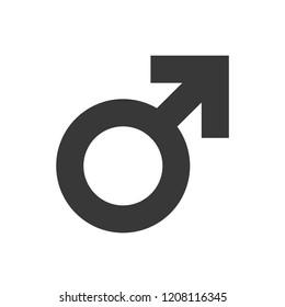Men Symbol. Male Sign. Vector Icon.