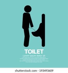 Men Toilet Sign Vector Illustration