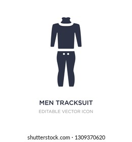 men tracksuit icon on white background. Simple element illustration from Fashion concept. men tracksuit icon symbol design.